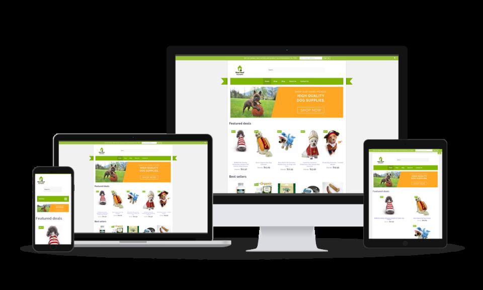 Responsive Website Design_Woof Woof Online Store Example